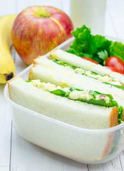 Pack a lunch when you're saving money